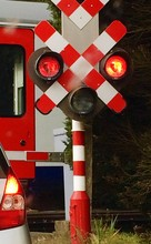 Close-up Of Railroad Crossing Sign