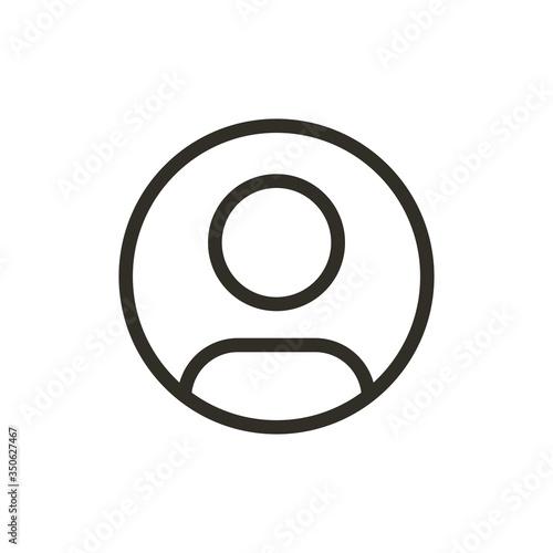 Fototapeta User icon isolated on white background. Profile symbol modern, simple, vector, icon for website design, mobile app, ui. Vector Illustration obraz na płótnie