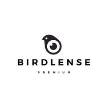 Bird Eye Lens Camera Logo Vect...