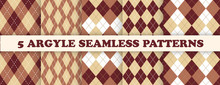 Argyle Pattern Seamless. Fabric Texture Background. Classic Argil Vector Ornament.