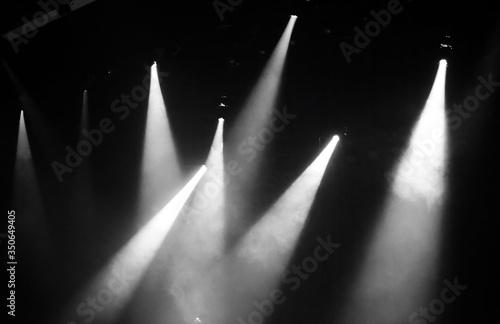 Fotomural Illuminated Lights In Darkroom