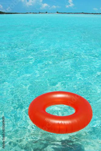 Fototapeta life buoy on the water
