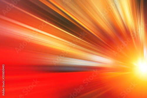 Photo Fast zoom accelerate blur motion for business perform moving high speed abstract for background