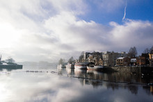 Skien Norway At Winter