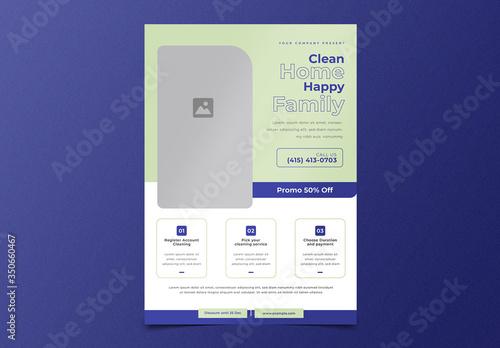 Fototapeta Cleaning Service Flyer Layout obraz
