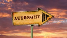 Street Sign The Way To Autonomy