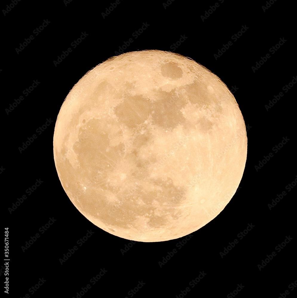 Fotografie, Obraz Idyllic Shot Of Full Moon Against Sky