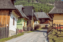 Colorful Wooden Houses In Vlko...