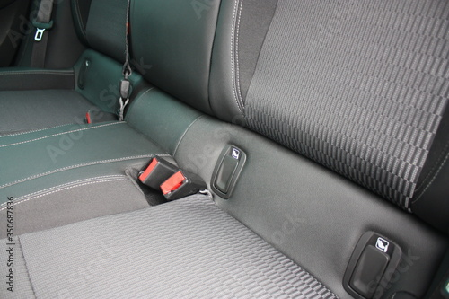ISOFIX standard in car for children seats with seat belt