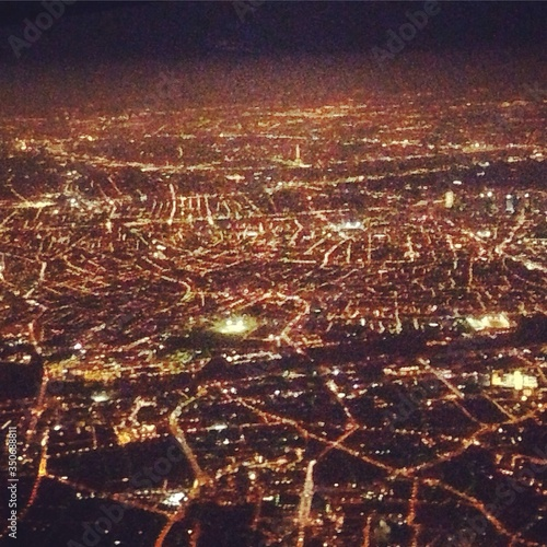 Photo Ariel View Of Illuminated City At Night