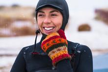 Young Woman Enjoying Winter Su...