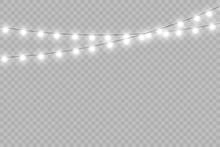 Christmas Lights Isolated Real...