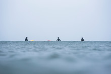 Women In A Surf Lineup During ...