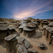Wild Rock Formations In The Desert Wilderness Of New Mexico At N