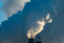 Smoke Stacks Pour Pollution Ba...