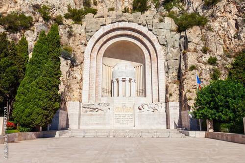 Photo War Memorial monument in Nice