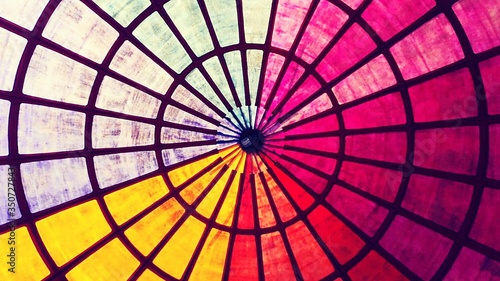 Canvas Directly Below Shot Of Colorful Cupola