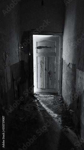 Photo Ajar Door Of Abandoned House