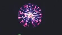Close-up Of Plasma Ball Agains...