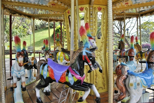 Valokuva Close-up Side View Of Merry-go-round