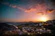 Leinwanddruck Bild - Wildflower against sunset in Khandallah, Wellington, New Zealand