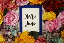 Hello June Card With Colorful ...