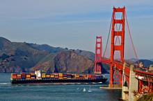Container Cargo Ship Approache...