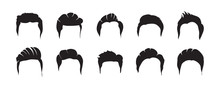 Men Hairstyles Vector. Collect...