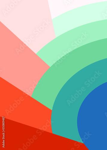 Okleiny na drzwi - Kolorowe - Wielobarwne  retro-ranbow-color-pallete