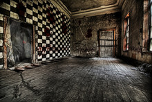 Terrible And Mystical Hall In An Abandoned Palace