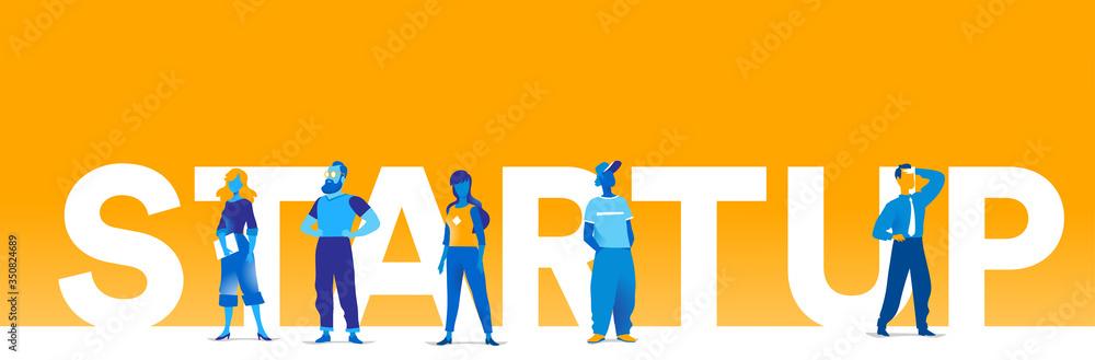 Fototapeta Giovani talenti lanciano una start up