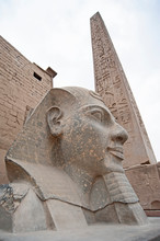 Statue Of Pharaoh Head At An A...