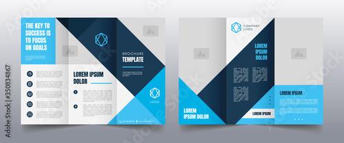 Fototapeta modern trifold business brochure template obraz