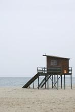 Framed Wooden Lifeguard Tower ...