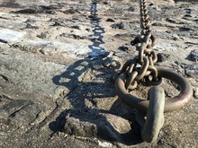 Detail Shot Of Chains On Ground