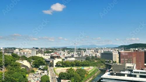 Fototapete - 都市風景 熊本市 ノーマルスピード