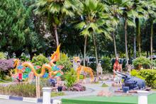 Tiger Animals And Dragons,Thean Hou Temple, Kuala Lumpur.