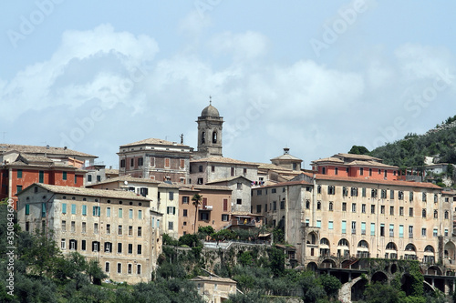 Arpino, Italy - May 4, 2013: Panorama of the city of Arpino in the province of F Canvas Print