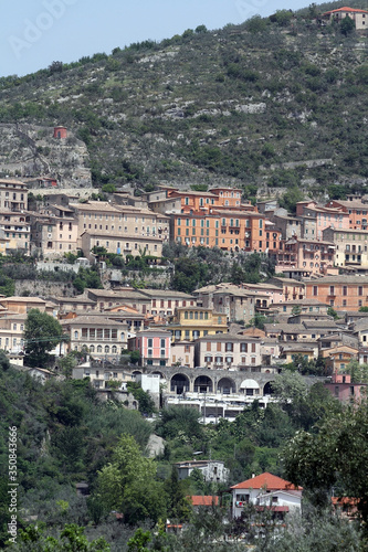 Arpino, Italy - May 4, 2013: Panorama of the city of Arpino in the province of F Wallpaper Mural