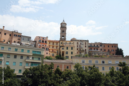 Frosinone, Italy - July 18, 2013: Panoramic view of the city Canvas Print