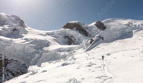 Fototapeta Mont Blanc north face on skis