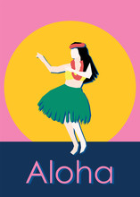 Hula Dancer Postcard Template ...