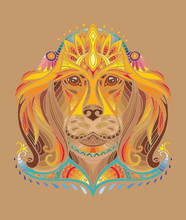 Vector Colorful Dog