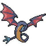 Fototapeta Dinusie - vector pixel art isolated fantasy monster