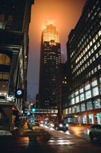 City Street And Buildings At N...