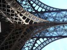 Architectural Detail Of Eiffel Tower Against Sky