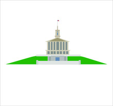 Tennessee Capitol In Nashville City In Usa
