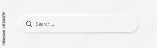 Obraz Search bar. Search window with shadow on light background, Neumorphism design. Vector illustration EPS10 - fototapety do salonu