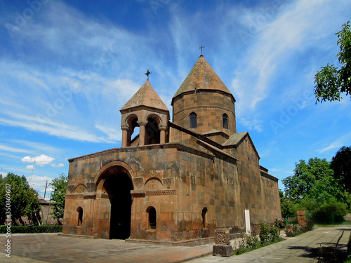Facade of the Armenian apostolic church of Shoghakat, dedicated to the memory of Wallpaper Mural