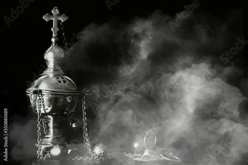 church censer, worship, incense, smoke